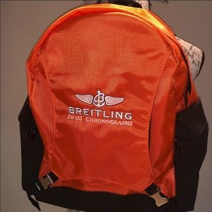 Breitling Luxury Orange And Black Backpack
